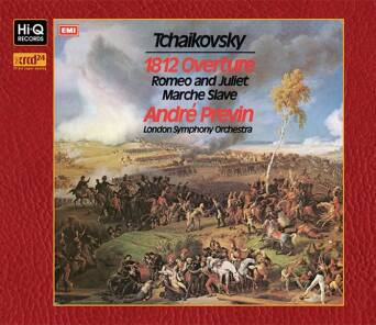 """Tchaikovsky : Overture ""1812"", Op.49 Marche Slave, Op.31 Romeo & Juliet - Fantasy Overture"" Andre Previn (Conductor) - XRCD24"