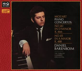 """Mozart : Piano Concertos No.20 in D Minor, K.466 No.23 in A Major, K.488"" Daniel Barenboim (Piano) - XRCD24"